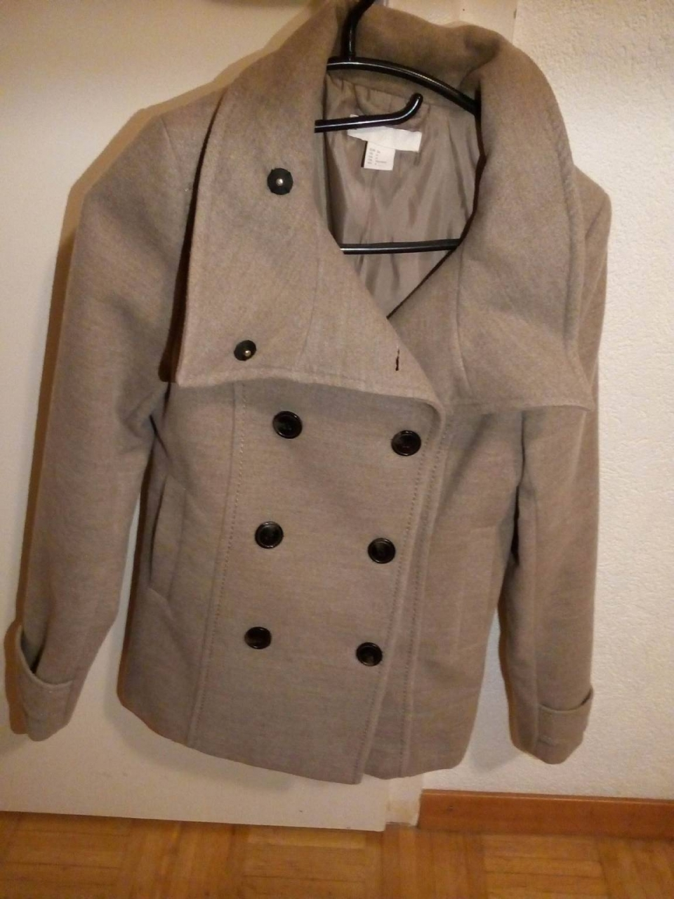 Vestes---Manteaux-Manteau-courte-pour-femme-H-M-taille-xs